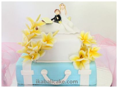 IKA Bali Balinese Wedding Cake Travel Bag Plane