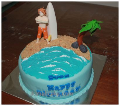 Bali Birthday Cake Beach Boy