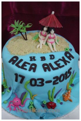 Bali Birthday Beach Feeling Cake