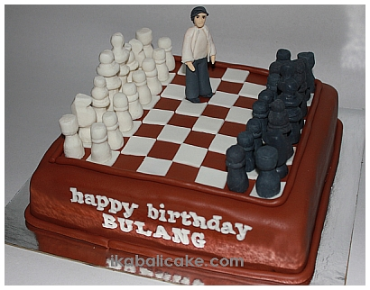 Bali Birthday Cake Chess