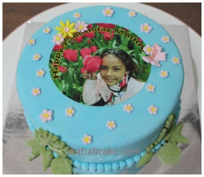 IKA Bali Birthday Cake Edible Picture Flowers