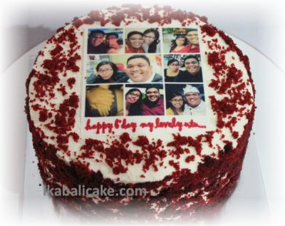 IKA Bali Birthday Cake Red Velvet with Edible Picture
