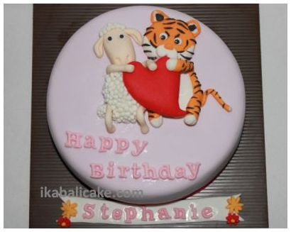 Bali Birthday Cake Sheep Tiger