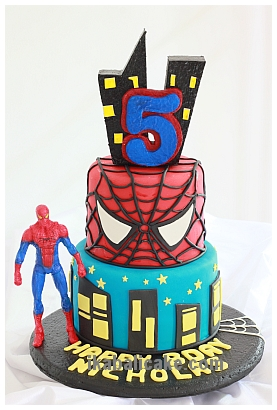 IKA Bali Birthday Spiderman Mask Cake