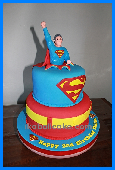 Bali Birthday Cake Superman