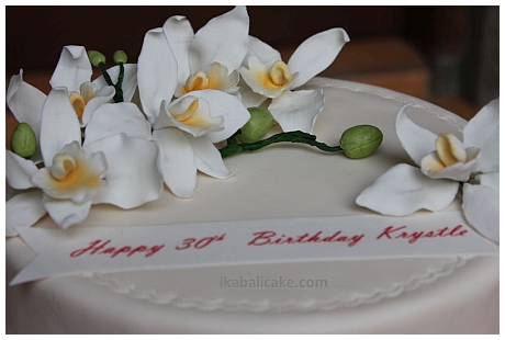 IKA Bali Birthday Cake White Orchids