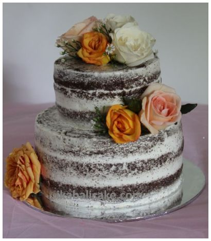 Bali Wedding Cake Purple Yellow