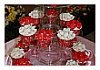 IKA Bali Wedding Cake and Cupcakes Red and White Flowers