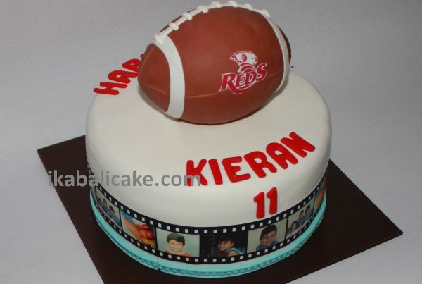 Reds Rugby Ball Cake Bali