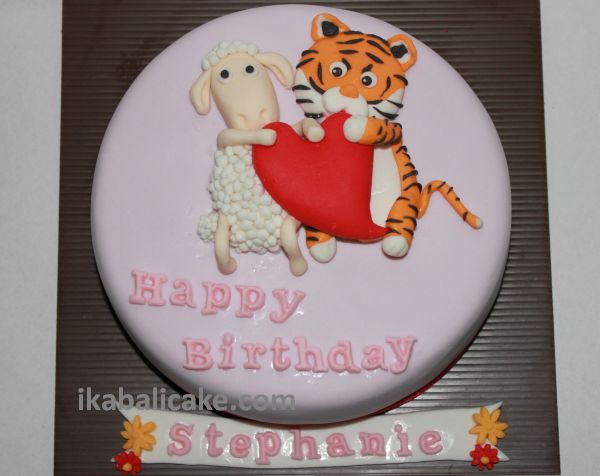 tiger sheep ika bali cake